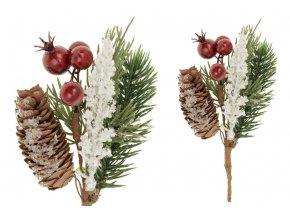 Větvička vánoční ojíněná , umělá dekorace