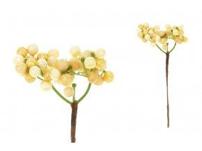 Dekorační přízdoba žlutá, cena za 1 polybag (8ks)