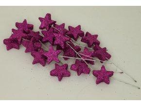 Vánoční přízdoba fialová. Cena za 1 polybag