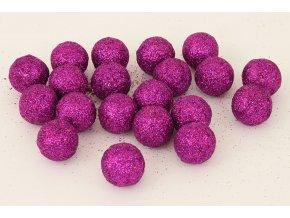 Vánoční dekorační koule fialová, cena za 1 polybag