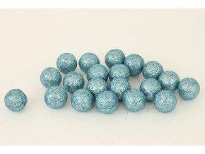 Vánoční dekorační koule modrá, cena za 1 polybag