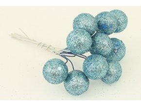 Vánoční přízdoba modrá. Cena za 1 svazek (6ks v polybagu)