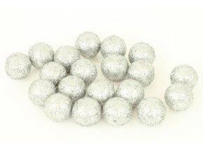 Vánoční dekorační koule - bílá, cena za 1 polybag
