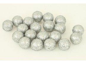 Vánoční dekorační koule - stříbrná. Cena za 1 polybag