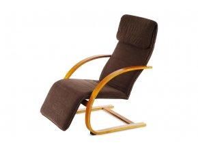 Relax. křeslo třešeň / potah tmavě hnědý QR-31 TR2