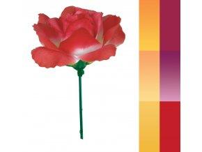 RŮŽIČKA, HLAVA 10cm, Květina umělá vazbová na drátě. CENA ZA 24ks = 1 sáček