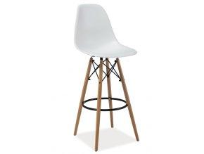 **Barová židle ENZO H1 bílá