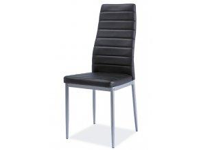 Jídelní čalouněná židle H-261 Bis černá/alu