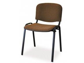 Čalouněná židle ISO černá/hnědá