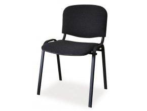 Čalouněná židle ISO černá/černá