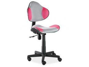 Kancelářská židle Q-G2 šedá/růžová