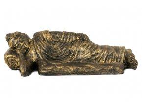 Keramický budha ležící