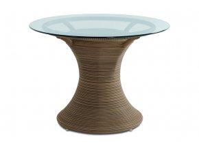 Jídelní stůl, umělý ratan BEZ SKLA