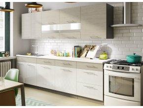Kuchyně JOPPA 260 s D60S3 picard/bílý lesk