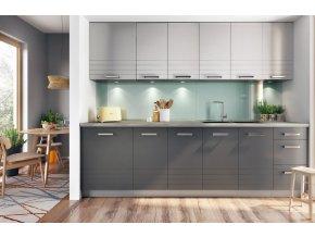 Kuchyně PALMYRA 260 s W80SU šedá/mocca