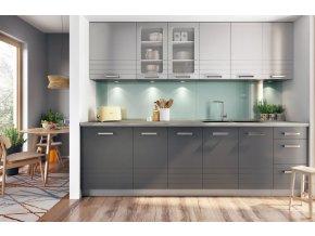 Kuchyně PALMYRA 260 s WS80 šedá/mocca