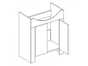 DUM skříňka pod umyvadlo SANTINI duglaska/bílá