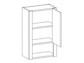 W45 h. skříňka SANTINI duglaska/bílá pravá