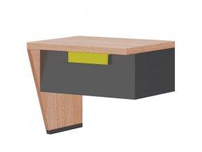 Noční stolek levý WOW W-11 zelená