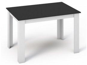 Jídelní stůl MANGA 120x80 bílá/černá