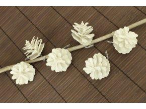 Šiška bílá dekorační z plastu, cena za 6 kusů/1 sáček
