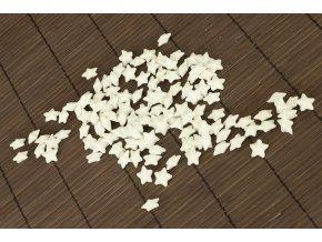 Hvězdička bílá dekorační, cena za sadu 120 kusů/1 polybag.