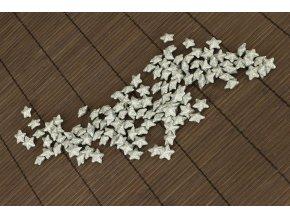 Hvězdička stříbrná dekorační, cena za sadu 120 kusů/1 polybag.