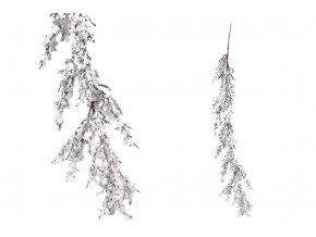 Girlanda s bobulemí, umělá dekorace, bílá zasněžená