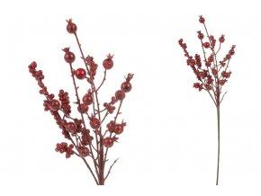 Větvička, červené jeřabiny, umělá dekorace