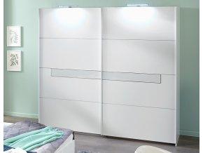 Šatní skříň s posuv. dveřmi PAMELA 862 alpská bílá