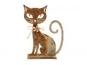 Kočka, kovová dekorace