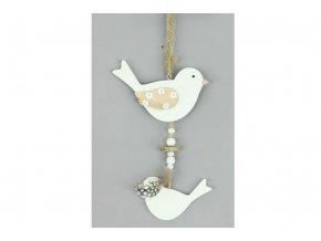 Ptáček, dřevěná dekorace na pověšení