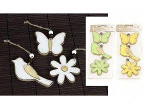 Motýl, ptáček a kytička, 3 kusy v sáčku