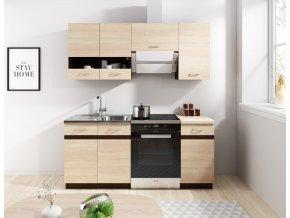 Kuchyňská linka Largo 120/180 dub sonoma světlá/tmavá