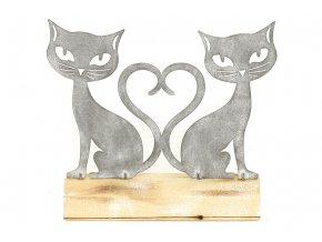 Kočičky , kovová dekorace