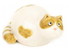 Kočička, keramická dekorace