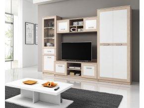 Obývací stěna Audrey dub sonoma/bílá
