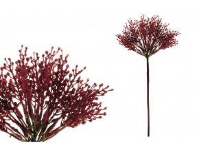 Vřes, barva vínová. Květina umělá plastová.