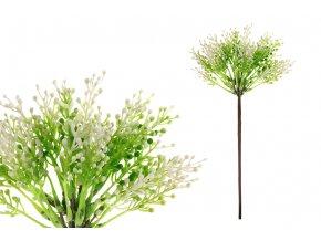Vřes, barva zelená. Květina umělá plastová.