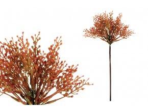 Vřes, barva oranžová. Květina umělá plastová.