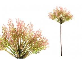 Vřes, barva růžová. Květina umělá plastová.