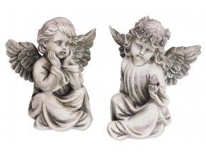 Anděl, víla,  dekorace z polyresinu, mix 2 tvarů