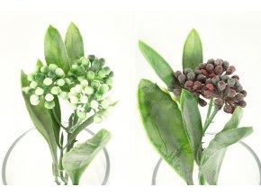Květina umělá plastová. Mix 3 barev
