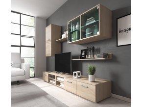 Obývací stěna Margarita dub sonoma/LED