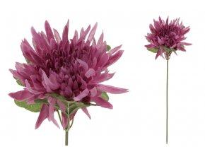 Chryzantéma, barva světle fialová. Květina umělá.