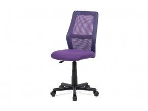 Kancelářská židle, fialová MESH + ekokůže, výšk. nast., kříž plast černý