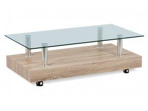 Konferenční stolek 110×60×35, sonoma / sklo čiré AF-2032 SON