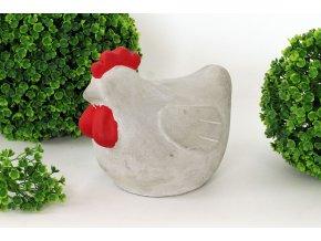 Slepice betonová dekorace
