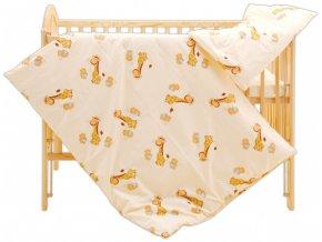 Dětské povlečení 2dílné - Scarlett Žirafa - žlutá 90 x 120 cm