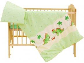 Dětské povlečení 2dílné Scarlett Dráček - zelená 90 x 120 cm